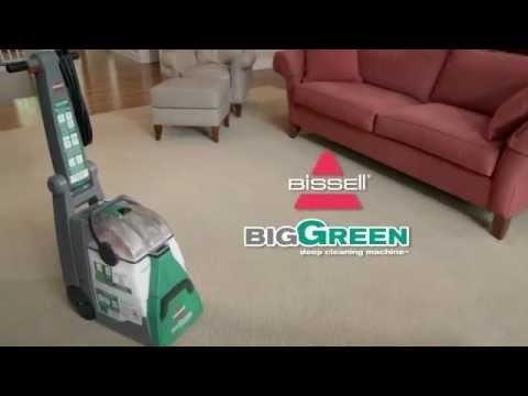 Big Green Machine 86T3 BISSELL Carpet Cleaners 1Hero;  86T3BigGreenMachineCarpetCleanerFrontViewRev118