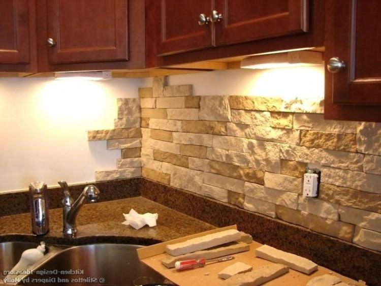brown kitchen backsplash ideas with dark cabinets style of