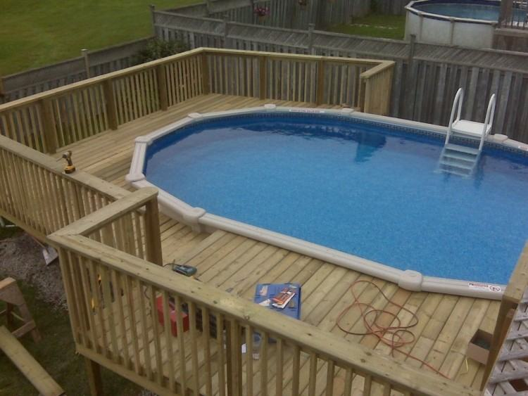 Stunning Decks for Above Ground Pools Space Inside of Home: Decks For Above  Ground Pools