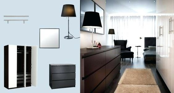 IKEA MALM dark red chest of drawers add a bold touch to a bedroom