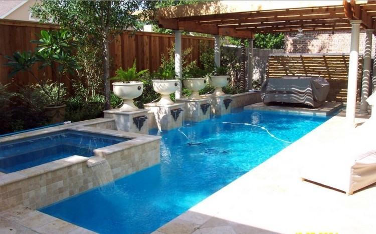 inground  swimming pool decks around