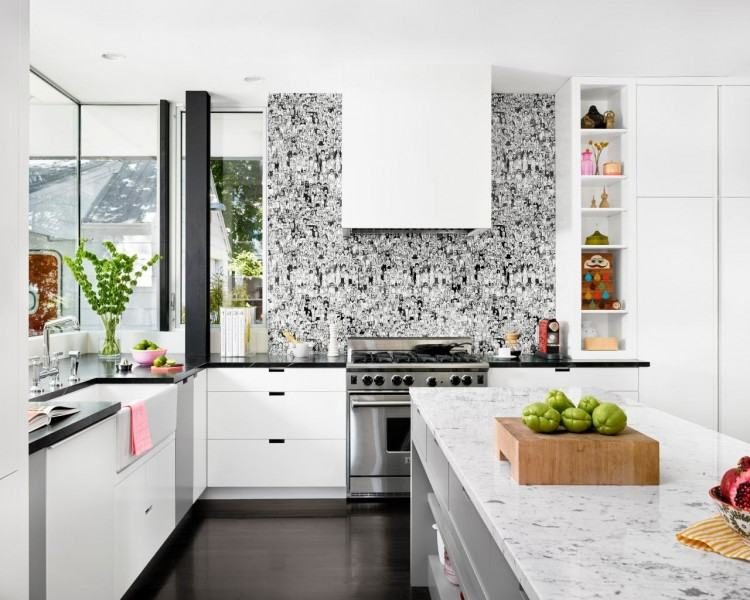 Amazing ornate tile and installation in this fabulous luxury kitchen  backsplash