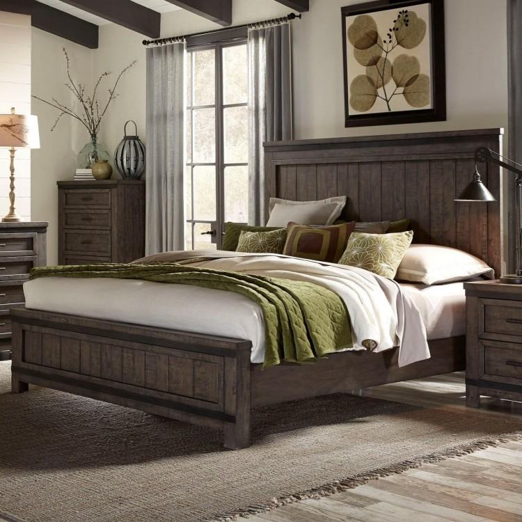 "64"" Cottage Queen Panel Bed in Natural"