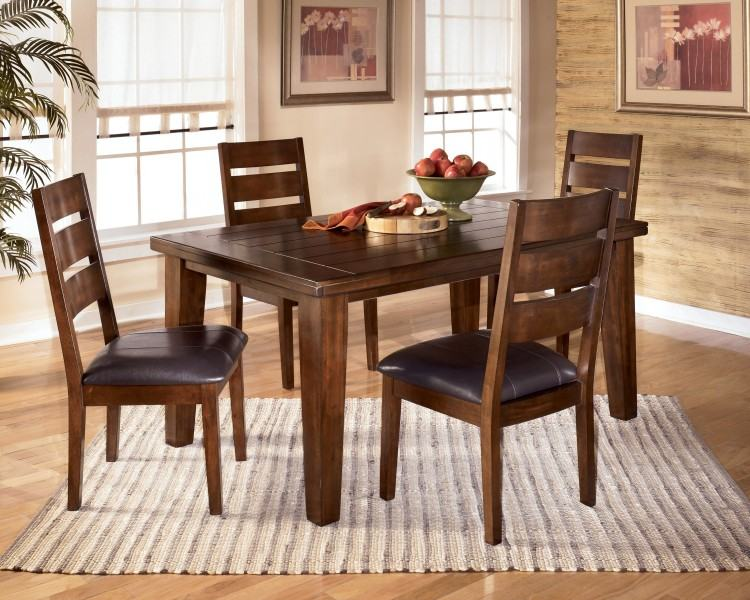 Signature Design by Ashley Larchmont Rectangular Extension Table and Chairs  | Reid's Furniture | Dining 7 (or more) Piece Sets Thunder Bay, Lakehead,