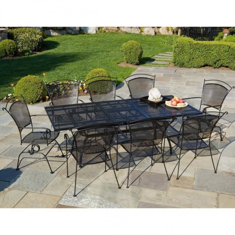 HEAVY WROUGHT IRON PATIO TABLE