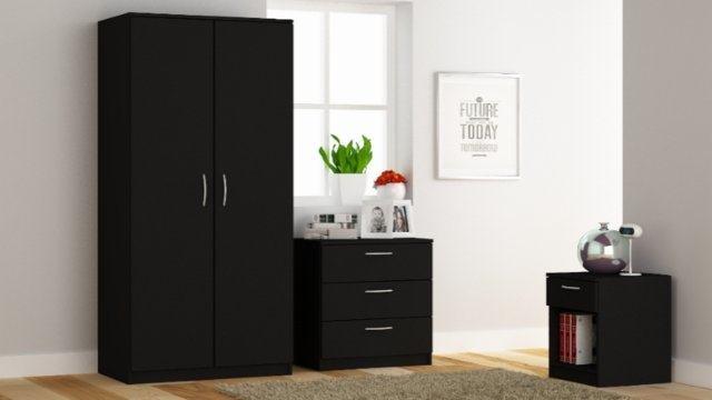 00Silky Oak Bedside Cabinet