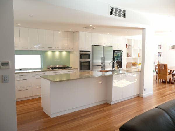 modern wooden ceiling loft kitchen; kitchen galley