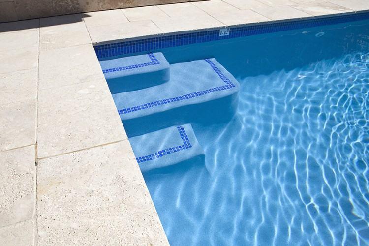 inground pool steps
