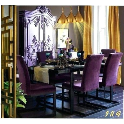 purple dining room purple dining chairs suede
