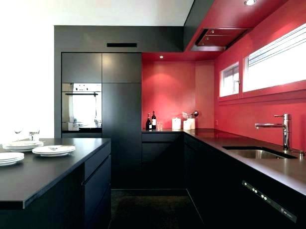 kitchen black appliances and tan decorating