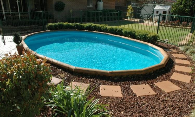 Patio & Garden: Amazing Oval Above Ground Pools For Exterior Design —  www