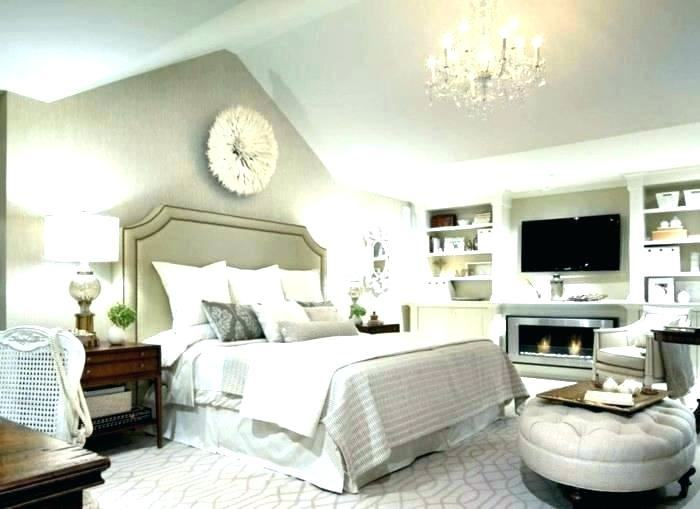 grey white and beige bedroom