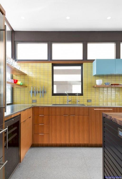 modern kitchen ideas black gray tiles  backsplash