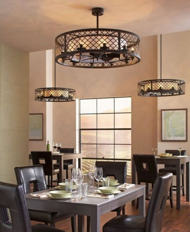 I've been looking for something to replace our circa 1988 ceiling fan/light  combo in the dining room
