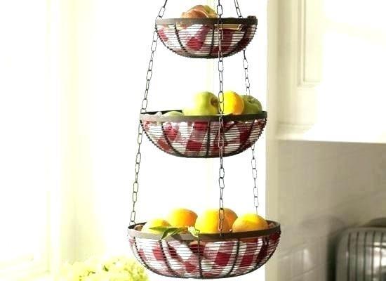 Kitchen Extraordinary Hanging Baskets For Astounding Exciting Fruit Basket  Ikea Black Iron Brackets Tier Ideas
