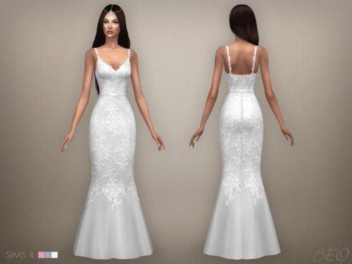 4 white dresses