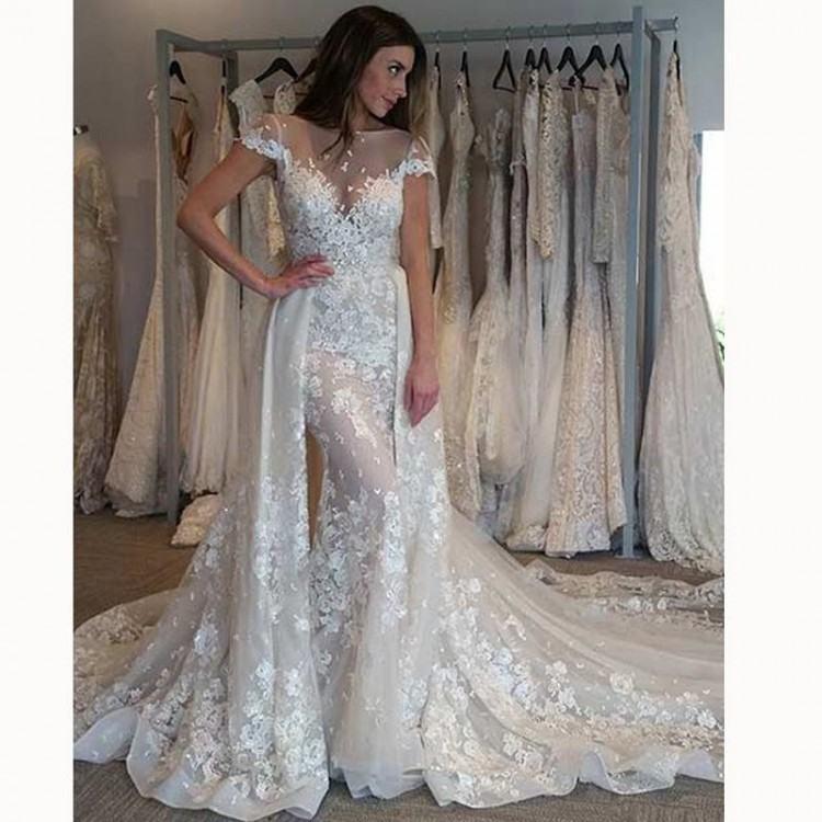 eddy k 2018 bridal sleeveless lace strap v neck full embellishment open  side glamorous elegant a line wedding dress open v back royal train  (adriana) bv