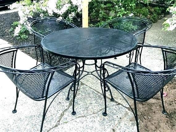 wrought iron patio tables vintage wrought iron table and chairs vintage wrought  iron patio set dogwood