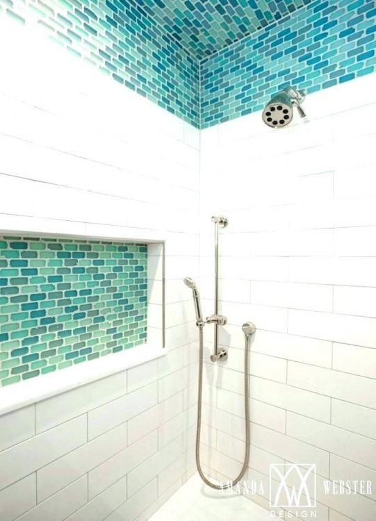 accent tile ideas for bathrooms surprise interiors shower wall