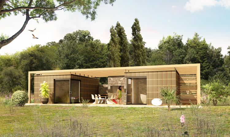 maison design avec piscine  u00e0 d u00e9bordement