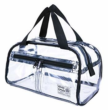 Rough Enough NFL Stadium Approved Durable Fashion Clear Travel Toiletry Bag  Transparent Makeup Case Cosmetic Pouch Bathroom Accessories Beach Shower  Holder