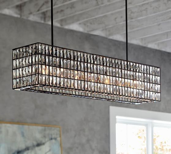 ADELINE CRYSTAL RECTANGULAR  CHANDELIER SELECT SIZE: Large (37