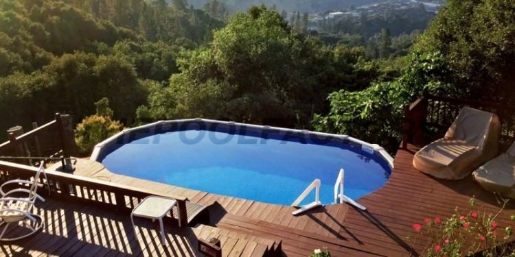 Above Ground  Pool Deck Designs Round Plans Swimming Pools