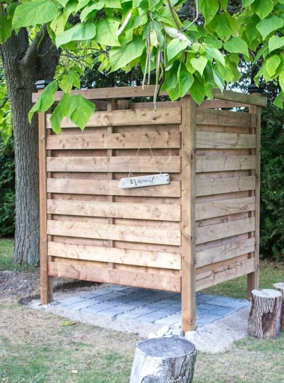 view larger image outdoor shower how to build an diy enclosure plans  nothing says summer like