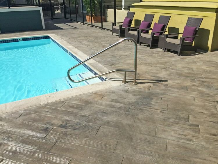 Another beautiful pool deck design feature from Sundek of Austin
