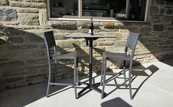 bay wicker patio furniture collection hampton java white resin