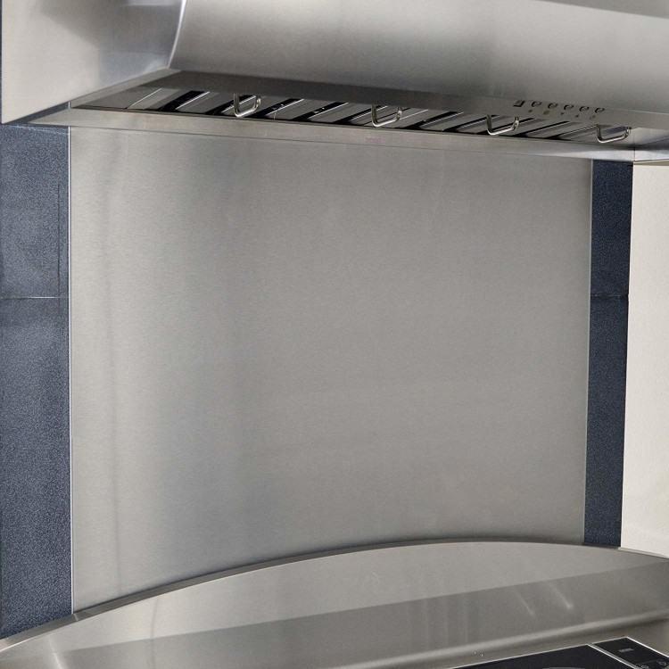Amazing stainless steel range, double ovens, beautiful hood, backsplash