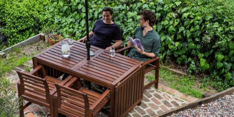 Mainstays Belden Park Outdoor Glider Chair – Red $59