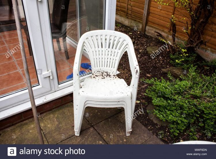 white plastic lawn furniture