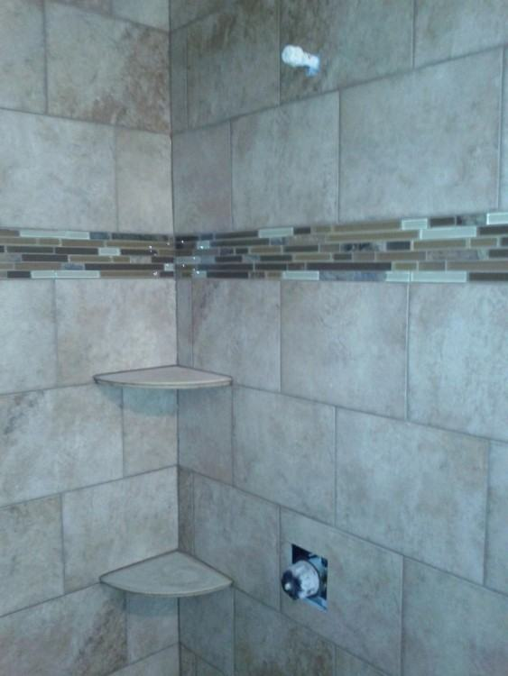 Achieve the natural look of wood flooring with grout that matches your  color tile