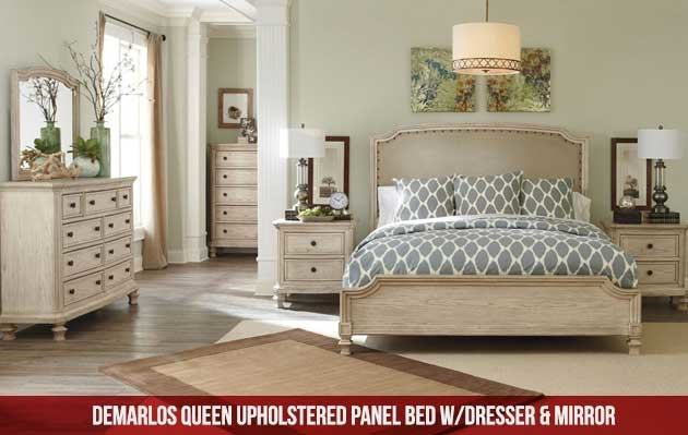 Large Picture of Sierra IFD5900 7 pc Queen Panel Bedroom Set