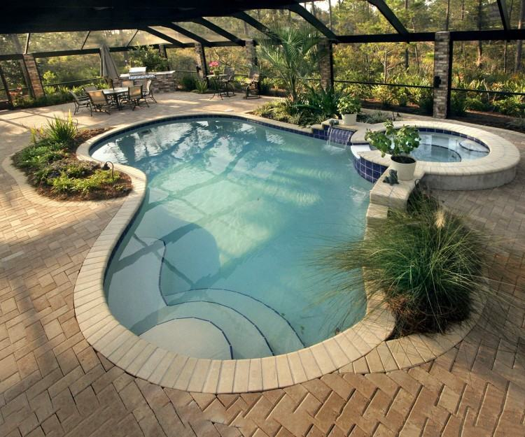 luxury in ground swimming pool and patio design ideas and installation  with landscaping mahwah new jersey
