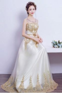2015 Trend White New Wedding Evening Dresses Mesh Lace Long Sleeve V Neck Formal  Bridal Gowns Dress Wholesale Evening Dress Pattern Evening Dresses For Tall