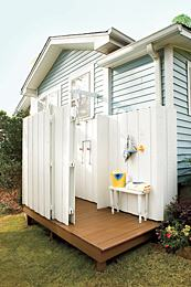 outdoor shower kit plans large wall enclosure lowes cedar panel