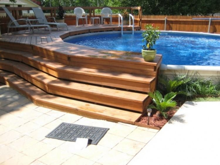Full Size of Small Pool Deck Designs Simple Plans Above Ground Pools Round  Free Architectures Surprising