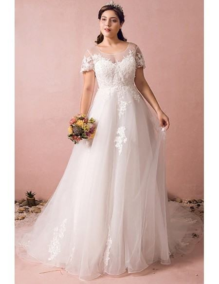 Load image into Gallery viewer, Vensanac Crystal Pearls O Neck Feathers  Ball Gown Wedding Dresses