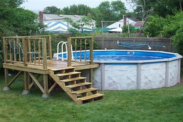 pool decking  design ideas by performance spa deck inground