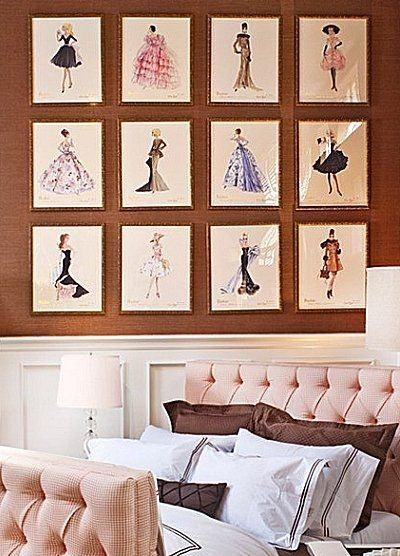 fashion themed bedroom