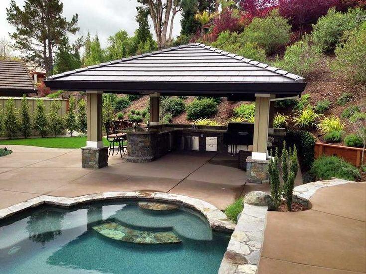 Add a Poolside Gazebo, Pergola or Pavilion