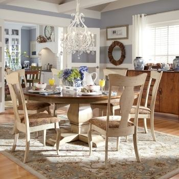 Ikea Vilmar chairs surround an RH trestle table in the dining area
