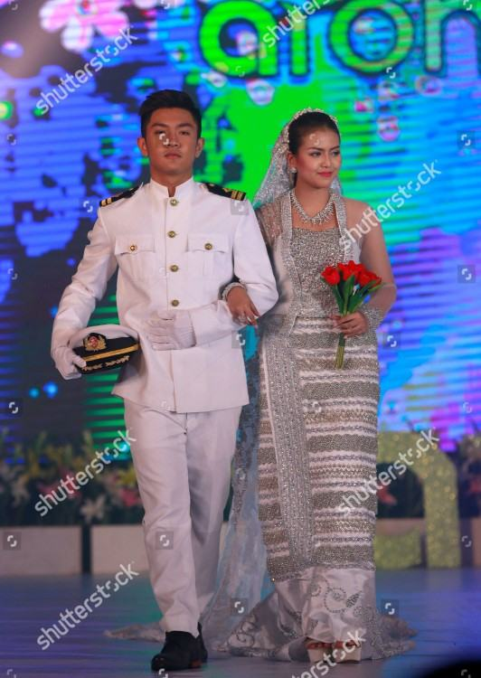 Nice myanmar formal mini dress for wedding