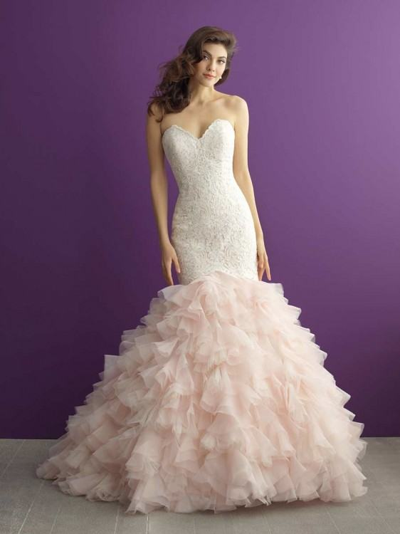 Lace Wedding Dress with Beading and Chapel Train; Gorgeous Fit