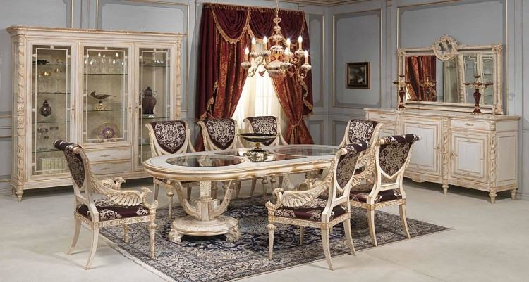 luxury dining table set designer dining set in signature collection fancy  dining table set