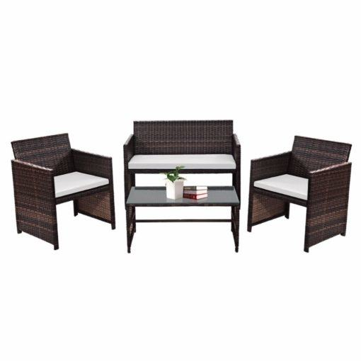 Giantex 3 PCS Rattan Wicker Patio Furniture Set