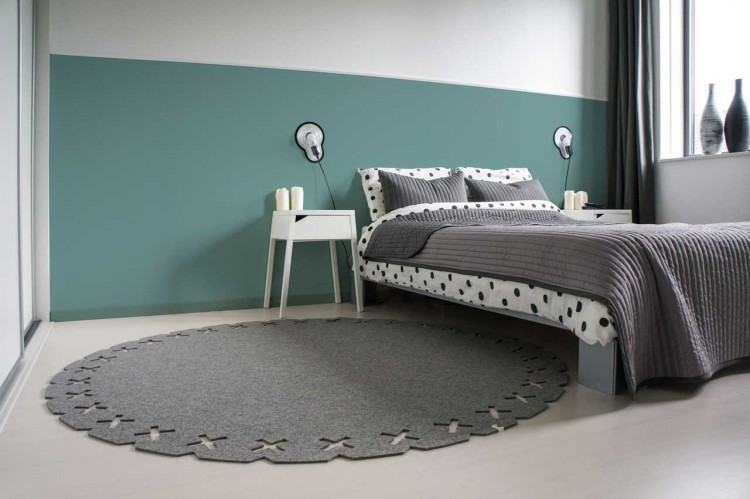 gray and white round rug white round area rug round bedroom rugs awesome  white round area