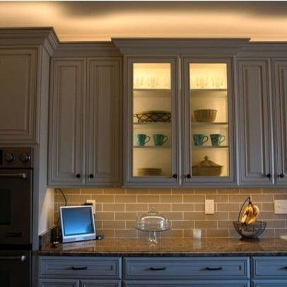 lighting above kitchen cabinets unique decorating with lights